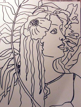 2D sketch Island Girl