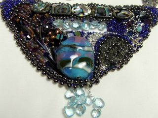 Beadwork blues detail