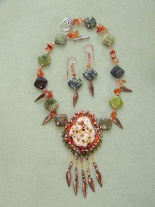 Ocracoke necklace 1 w earrings $135