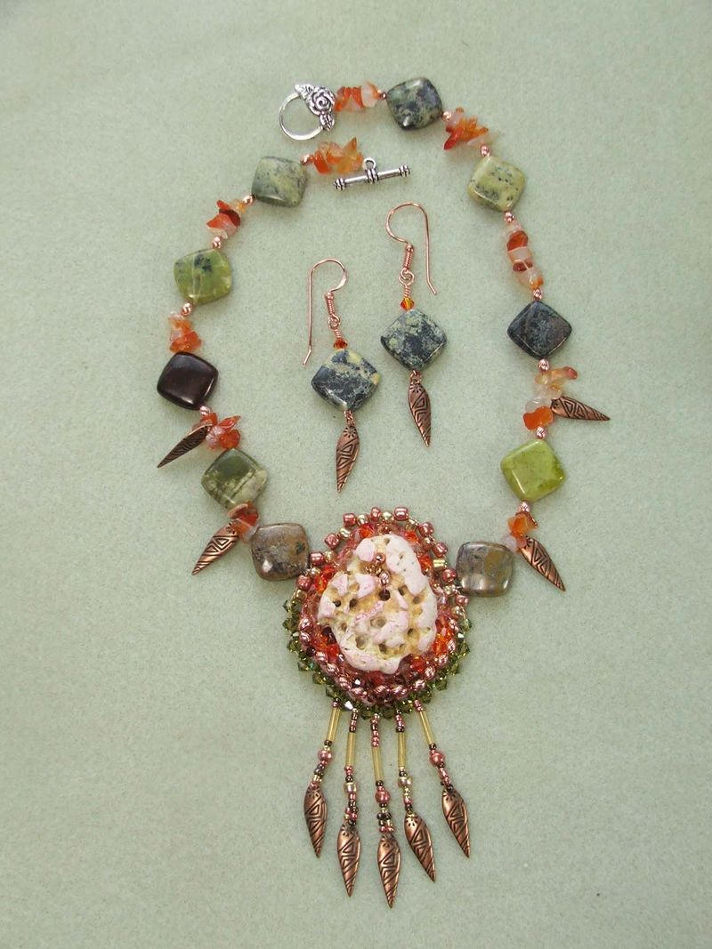 Ocracoke necklace 1 w earrings $135
